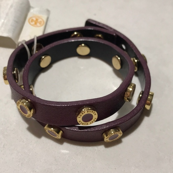 62412854725 Tory Burch Cole Enamel Double Wrap Bracelet